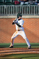 Hunter Jones (33) of the Charlotte 49ers at bat against the Louisiana Tech Bulldogs at Hayes Stadium on March 28, 2015 in Charlotte, North Carolina.  The 49ers defeated the Bulldogs 9-5 in game two of a double header.  (Brian Westerholt/Four Seam Images)