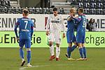 Jubel beim 1. FC Heidenheim und haengende Koepfe beim SV Sandhausen  beim Spiel in der 2. Bundesliga, SV Sandhausen - 1. FC Heidenheim 1846.<br /> <br /> Foto © PIX-Sportfotos *** Foto ist honorarpflichtig! *** Auf Anfrage in hoeherer Qualitaet/Aufloesung. Belegexemplar erbeten. Veroeffentlichung ausschliesslich fuer journalistisch-publizistische Zwecke. For editorial use only. For editorial use only. DFL regulations prohibit any use of photographs as image sequences and/or quasi-video.