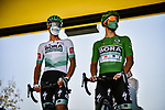 Green Jersey Peter Sagan (SVK) Bora-Hansgrohe at sign on before the start of Stage 8 of Tour de France 2020, running 141km from Cazeres-sur-Garonne to Loudenvielle, France. 5th September 2020.<br /> Picture: ASO/Pauline Ballet | Cyclefile<br /> All photos usage must carry mandatory copyright credit (© Cyclefile | ASO/Pauline Ballet)