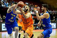 GRONINGEN - Basketbal, Nederland - Roemenie, WK kwalificatie 2019, Martiniplaza, 28-06-2018 Shane Hammink met Daicor
