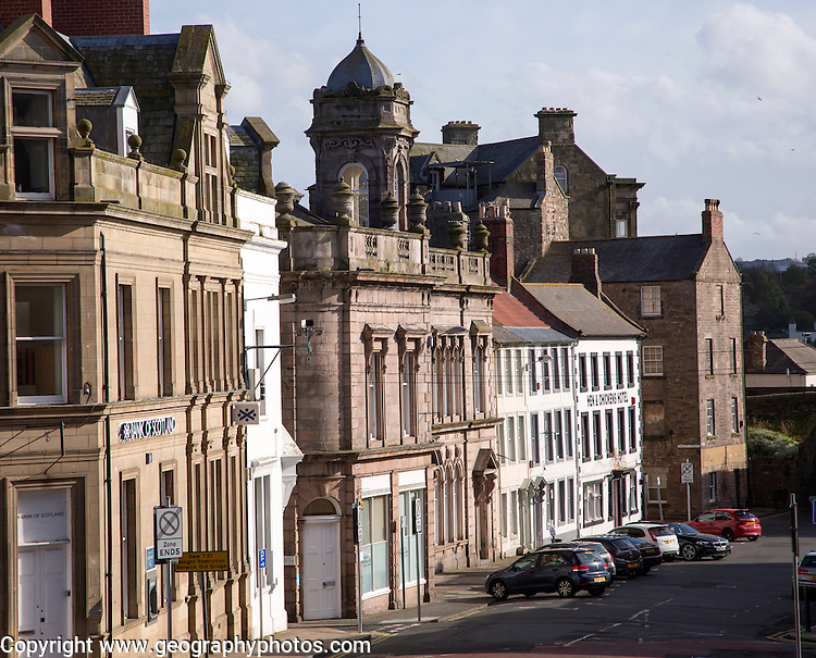 Historic buildings in Berwick-upon-Tweed, Northumberland, England, UK