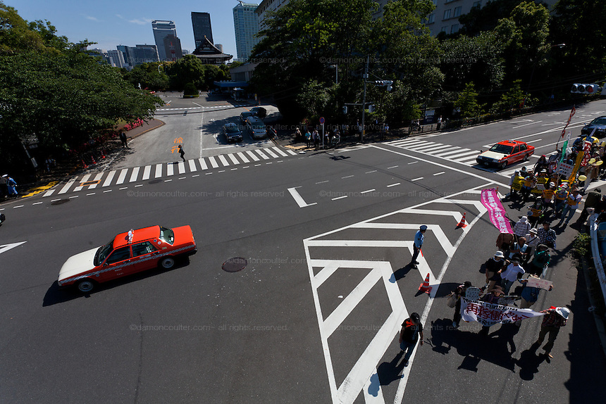 Anti nuclear protest. Tokyo, Japan Sunday June 2nd 2013