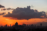 Sunset over Manila, Philippines