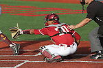 P.J. Jones reaches for a pitch during the Pac-12 Conference tilt between the Washington State Cougars and the Arizona State Sun Devils at Bailey-Brayton Field in Pullman, Washington, on May 24, 2014.  The Cougars defeated the 21st ranked Sun Devils, 10-7.