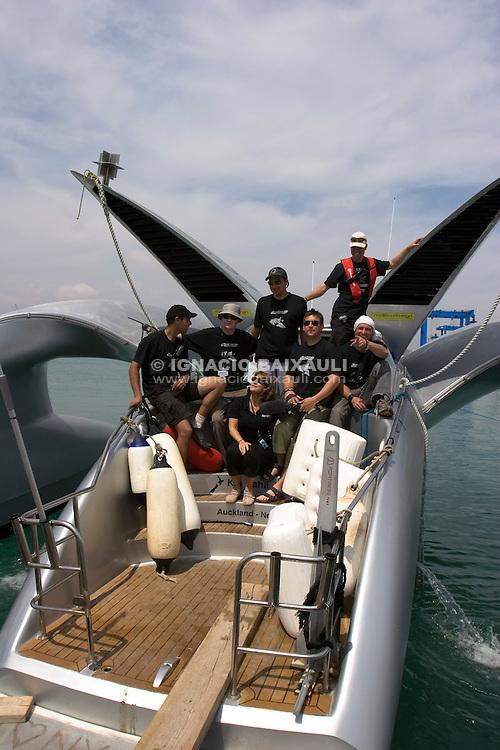 Earthracedeparture from Vulkan Shipyard, 21/1/2008 Puerto de Sagunto, Valencia, Spain