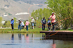 Breast cancer survivors and their &quot;river buddies&quot; fly fish together during the the Casting for Recovery fishing clinic at Bently Ranch in Gardnerville, Nev. May 4, 2018.<br /> Photo by Candice Vivien/Nevada Momentum