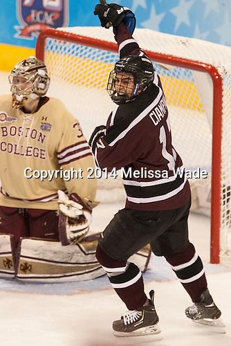 Daniel Ciampini (Union - 17) - The Union College Dutchmen defeated the Boston College Eagles 4-3 on Thursday, April 10, 2014, in their 2014 Frozen Four semi-final at the Wells Fargo Center in Philadelphia, Pennsylvania.