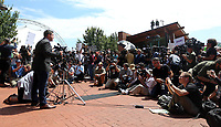 Unite the Right rally organizer Jason Kessler held a press conference that quickly turned to mayhem Sun., August 13, 2017 outside City Hall in Charlottesville, Va. The previous day, a woman was killed and several others injured after the Unite the Right rally, organized by Jason Kessler. Photo/Andrew Shurtleff
