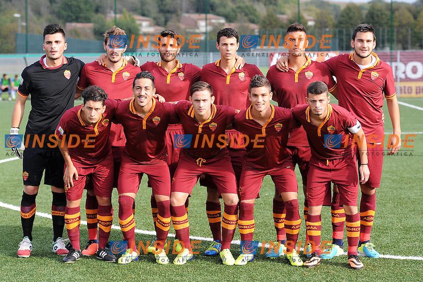 Formazione Roma <br /> Roma 2-11-2013 Centro Sportivo Trigoria <br /> Football Calcio Campionato Italiano Primavera 2013/2014 <br /> AS Roma - Lazio <br /> Foto Andrea Staccioli Insidefoto