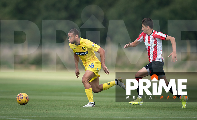 Curtis Thompson of Wycombe Wanderers  during the behind closed doors friendly between Brentford B and Wycombe Wanderers at Brentford Football Club Training Ground & Academy<br /> 100 Jersey Road, TW5 0TP, United Kingdom on 3 September 2019. Photo by Andy Rowland.