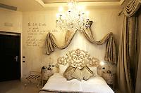 Una camera dell'Hotel Sant'Anselmo, a Roma.<br /> A room of the Hotel Sant'Anselmo, in Rome.<br /> UPDATE IMAGES PRESS/Riccardo De Luca