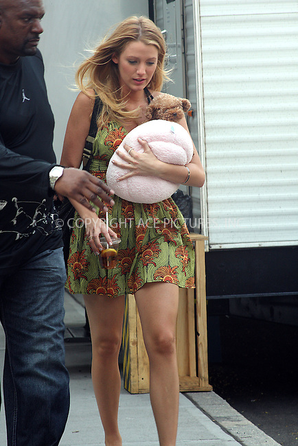 WWW.ACEPIXS.COM . . . . .  ....August 3 2009, New York City....Blake Lively on the set of the TV show 'Gossip Girl' in Soho on August 3 2009 in New York City....Please byline: JOANNE JUELE - ACE PICTURES.... *** ***..Ace Pictures, Inc:  ..tel: (212) 243 8787 or (646) 769 0430..e-mail: info@acepixs.com..web: http://www.acepixs.com