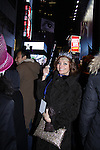 Anne Sayre (As The World Turns) in Times Square at midnight as she attends The Times Square Broadway Royale on New Years Eve 2014 at the legendary Copacabana, New York City, New York. (Photo by Sue Coflin/Max Photos)