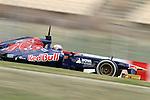 19.02.2013 Montmelo, Barcelona, Spain. Pre-seasson testing day 1. Picture show Scuderia Toro Rosso , Daniel Ricciardo driving STR8 at Circuit de Catalunya