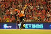 8th January 2018, The WACA, Perth, Australia; Australian Big Bash Cricket, Perth Scorchers versus Melbourne Renegades; Ashton Turner of the Perth Scorchers drives down the ground during his innings of 70