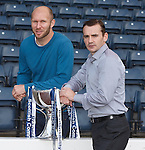 Sam Parkin and Danny Lennon after the League Cup draw