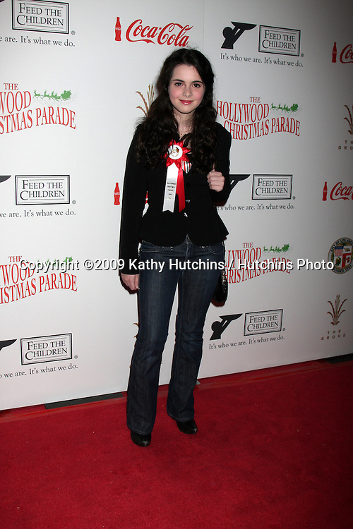 Vanessa Marano.arriving at the 2009 Hollywood Christmas Parade .Hollywood Roosevelt Hotel.Los Angeles,  CA.November 29, 2009.©2009 Kathy Hutchins / Hutchins Photo.