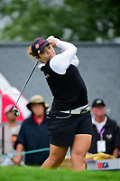 Ariya Jutanugarn (THA) watches her tee shot on 1 during Friday's second round of the 72nd U.S. Women's Open Championship, at Trump National Golf Club, Bedminster, New Jersey. 7/14/2017.<br /> Picture: Golffile | Ken Murray<br /> <br /> <br /> All photo usage must carry mandatory copyright credit (&copy; Golffile | Ken Murray)