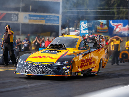 NHRA Mello Yello Drag Racing Series<br /> Dodge NHRA Nationals<br /> Maple Grove Raceway<br /> Reading, PA USA<br /> Friday 22 September 2017 J.R. Todd, DHL, funny car, Toyota, Camry<br /> <br /> World Copyright: Mark Rebilas<br /> Rebilas Photo