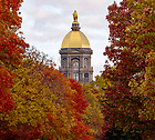 November 2, 2018; Golden Dome 2018 Fall.(Photo by Barbara Johnston/University of Notre Dame)