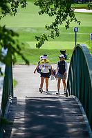 So Yeon Ryu (KOR) and Sarah Jane Smith (AUS) approach the walking bridge enroute to 16th tee box during Saturday's round 3 of the 2017 KPMG Women's PGA Championship, at Olympia Fields Country Club, Olympia Fields, Illinois. 7/1/2017.<br /> Picture: Golffile | Ken Murray<br /> <br /> <br /> All photo usage must carry mandatory copyright credit (&copy; Golffile | Ken Murray)