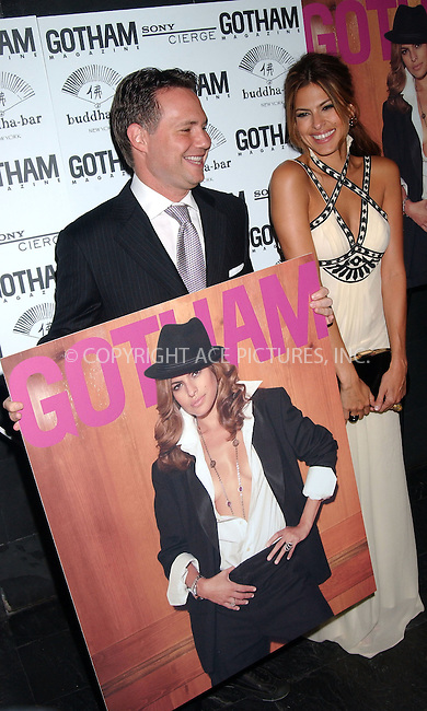 WWW.ACEPIXS.COM . . . . . ....October 11 2007, New York City....Niche Media founder and CEO Jason Binn and actress Eva Mendes at The Gotham Magazine Party to celebrate her appearance on the cover of the new issue, at the Buddha Bar in downtown Manhattan......Please byline: KRISTIN CALLAHAN - ACEPIXS.COM.. . . . . . ..Ace Pictures, Inc:  ..(646) 769 0430..e-mail: info@acepixs.com..web: http://www.acepixs.com