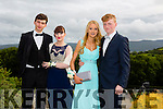 Pictured at the Presentation Tralee Debs ball at the Ballyroe Heights Hotel on Thursday, were, from l-r Vladimir Zadadsky, Joan Walsh, Shannon Lawlor and Brandon Begley