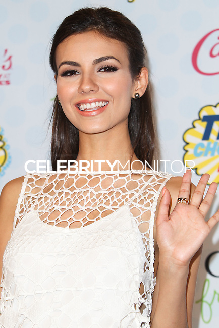 LOS ANGELES, CA, USA - AUGUST 10: Victoria Justice poses in the press room during the Teen Choice Awards 2014 held at The Shrine Auditorium on August 10, 2014 in Los Angeles, California, United States. (Photo by Celebrity Monitor)