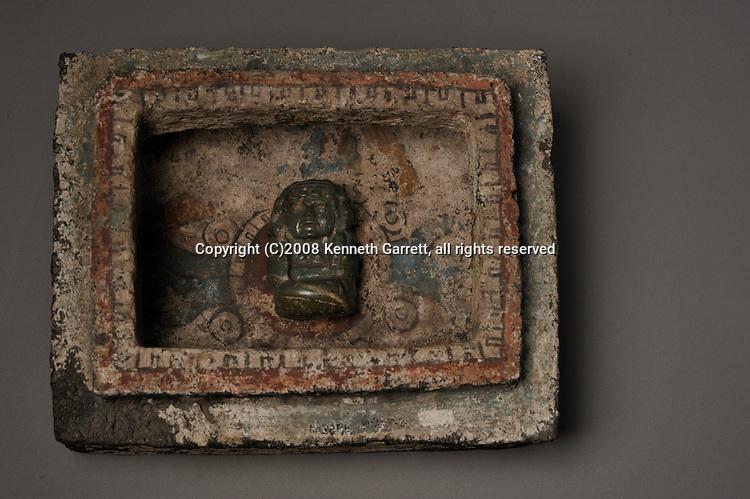 Greatest Aztecs, MM7677,  Mexico City, Mexico, NMAH, Tizoc stone, Calendar, Gold ring, Caja de Tizapan,  Cargador-carrying god on pilgrimage to Tenochtitlan