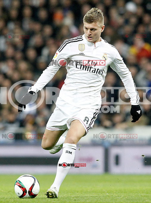 Real Madrid's Toni Kroos during Spanish King's Cup match.January 15,2015. (ALTERPHOTOS/Acero) /NortePhoto /NortePhoto.com
