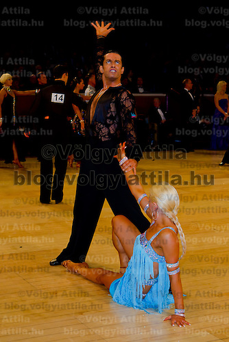 Joshua Keefe and Sara Magnanelli from Australia perform their dance during the Professional Latin-american competition of the International Championships held in Royal Albert Hall, London, United Kingdom. Thursday, 21. October 2010. ATTILA VOLGYI