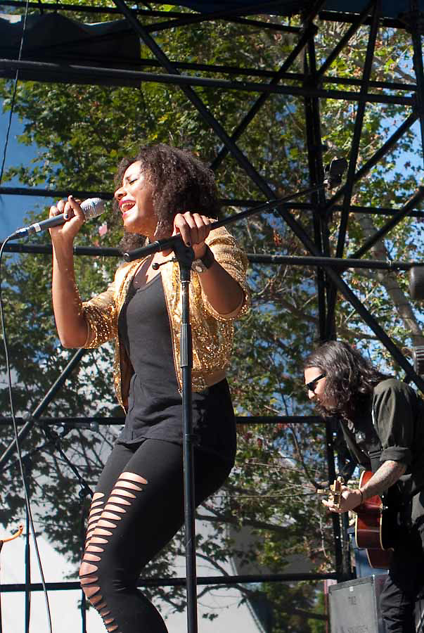 Susan Justice (also known as Susan Cagle) performs on the Second State during the 2010 Lilith Fair on July 5, 2010 in Mountain View, California.