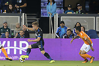 San Jose, CA - Saturday September 16, 2017: Tommy Thompson during a Major League Soccer (MLS) match between the San Jose Earthquakes and the Houston Dynamo at Avaya Stadium.