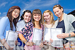 Girls from the Intermediatte School Killorglin who received the leaving Cert results on Wednesday in the beautiful sunshine l-r: Linda O'Sullivan Beaufort, Shannen Foley Caragh Lake, Laura Foley Glencar, Kerrie O'Shea Killorglin and Rachel O'Sullivan Killarney