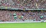 Stockholm 2014-07-28 Fotboll Superettan Hammarby IF - Assyriska FF :  <br /> Vy &ouml;ver Tele2 Arena med Hammarbys supportrar i nordv&auml;stra kurvan<br /> (Foto: Kenta J&ouml;nsson) Nyckelord:  Superettan Tele2 Arena Hammarby HIF Bajen Assyriska AFF supporter fans publik supporters