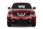Car photography straight front view of a 2015 Nissan JUKE TEKNA 5 Door SUV 2WD Front View