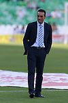Jose Luis Otra Huelva's coacher just before starting the match between Real Betis and Recreativo de Huelva day 10 of the spanish Adelante League 2014-2015 014-2015 played at the Benito Villamarin stadium of Seville. (PHOTO: CARLOS BOUZA / BOUZA PRESS / ALTER PHOTOS)