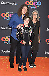 LOS ANGELES, CA - NOVEMBER 08: Actor Weird Al Yankovic, Suzanne Krajewski and Nina Yankovic arrive at the premiere of Disney Pixar's 'Coco' at El Capitan Theatre on November 8, 2017 in Los Angeles, California.