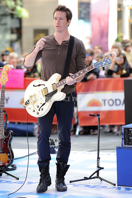 "WWW.ACEPIXS.COM . . . . . ....May 28 2010, New York City....Zach Filkins of One Republic performing on NBC's ""Today"" show at the Rockefeller Center on May 28, 2010 in New York City.....Please byline: KRISTIN CALLAHAN - ACEPIXS.COM.. . . . . . ..Ace Pictures, Inc:  ..tel: (212) 243 8787 or (646) 769 0430..e-mail: info@acepixs.com..web: http://www.acepixs.com"