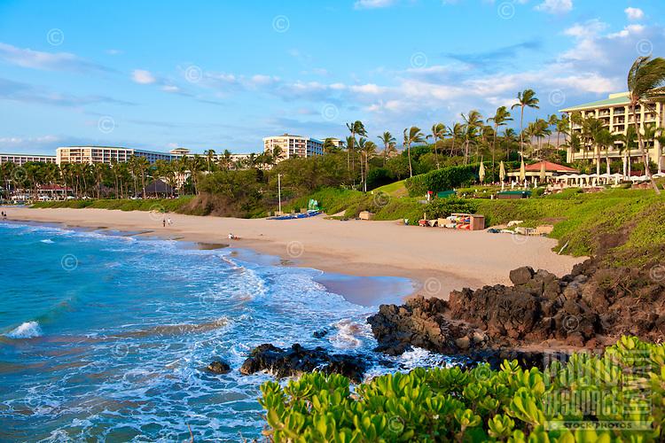 Wailea Beach fronting Four Seasons and Grand Wailea Beach Resorts, Maui