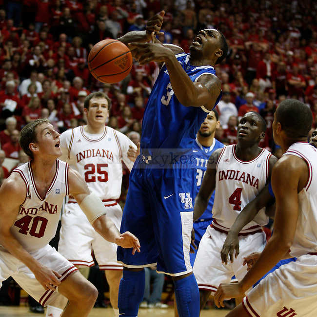 Terrence Jones struggles for the ball in the first half of UK's loss to Indiana University on Saturday, Dec. 10, 2011 in Assembly Hall. Photo by Latara Appleby | Staff ..