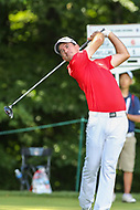 Bethesda, MD - July 1, 2017: Nick Taylor tee shot on the 8th hole during Round 3 of professional play at the Quicken Loans National Tournament at TPC Potomac in Bethesda, MD, July 1, 2017.  (Photo by Elliott Brown/Media Images International)