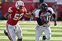 17 October 2009: Texas Tech running back Harrison Jeffers rushes for 21 yards in the second quarter against Nebraska at Memorial Stadium, Lincoln, Nebraska. Texas Tech defeats Nebraska 31 to 10.