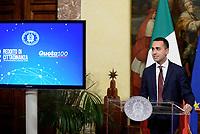 Roma, 17 Gennaio 2019<br /> Luigi di Maio.<br /> Conferenza stampa al termine del Consiglio dei Ministri che ha approvato il decreto legge su Reddito di cittadinanza e pensioni