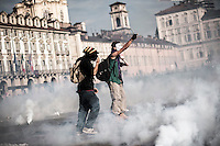 Clashes @ Job Act & UE meeting in Turin