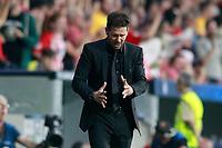 Atletico de Madrid's coach Diego Pablo Cholo Simeone during Champions League 2017/2018, Group C, match 2. September 27,2017. (ALTERPHOTOS/Acero)<br /> Champions League 2017/2018 <br /> Atletico Madrid - Chelsea <br /> Foto Alterphotos / Insidefoto