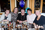 Julie Sweetman Killarney celebrated her 50th birthday with her friends in the Porterhouse Restaurant on Friday night l-r: Eileen Moynihan, Anna O'Brien, Caroline Sweetman, Julie Sweetman and Marie Casey