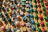 Arts and crafts, making, rows of patterns, hand painted, Turtles, Ladybugs, Amarillo's, Turkeys, for sale, Venice CA, Boardwalk, Oceanfront walk,