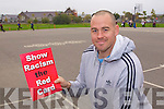 Micheal Quirke at the launch of Football against racism in Europe at Holy Family School on Thursday.