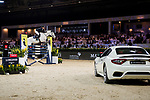 Quanwei Meng of China riding Clintorado competes in the Maserati Masters Power during the Longines Masters of Hong Kong at AsiaWorld-Expo on 10 February 2018, in Hong Kong, Hong Kong. Photo by Diego Gonzalez / Power Sport Images